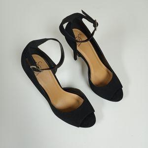 D Black Open - Toe Heels 👠